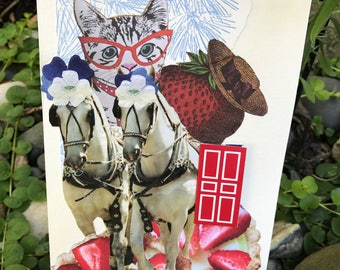 Collage card - Horses