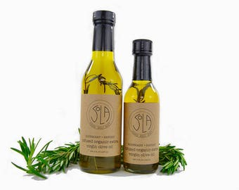 ORGANIC OLIVE OIL: infused with rosemary and savory