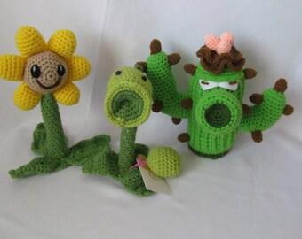 Plants vs. Zombies crochet toys