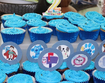 24 Blue's Clues Cupcake Toppers