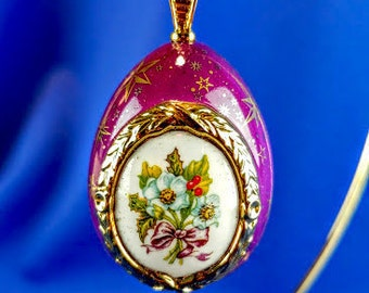 Franklin Mint House of Faberge Egg Christmas Ornament