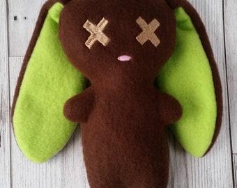 Chocolate Lime Bunny Plush