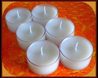 Tealight Candles - Set of 6 - French Vanilla - Free U.S. Shipping - White Candles - Tea Light Candles - Weddings