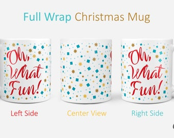 Oh What Fun! - Cute Christmas Winter Coffee Gift // Stocking Stuffer // Holiday Gift //