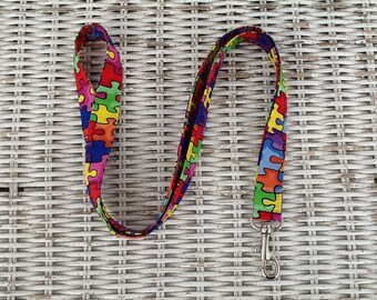 Autism Awareness Lanyard -  Puzzle Teachers Lanyard