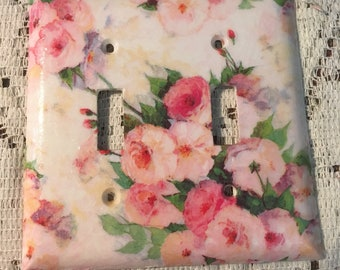 Gorgeous pastel colors double Switch Plate