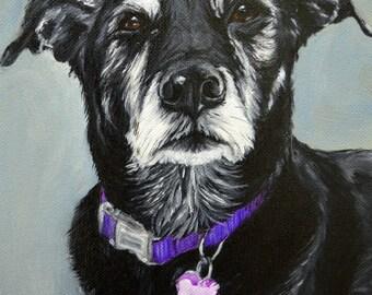 "custom dog Painting, custom pet portrait,  Portrait Commission, Labrador, Retriever  Mix,  personalized  art , Christmas gift idea, 8x10"""