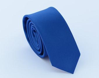 Royal Blue Silk Tie.Mens Silk Tie.Wedding Tie.