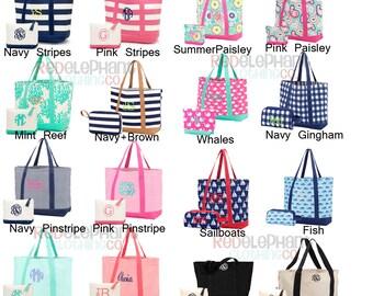 Monogram Bridesmaid Gift, Personalized Boat Tote, Bridesmaid Tote Bag, Monogram Boat Tote, Embroidered Beach Bag, Monogram Carry All