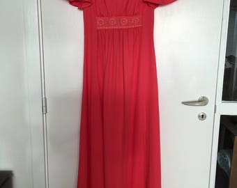 70s coral dress