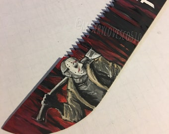 Friday the 13th hand painted machete