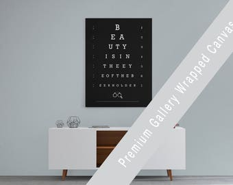 Beer - Canvas Print - Eye Chart - Beer Lover - Bar Art - Kitchen Art - Funny Quote - Home Bar -Typography - Man Cave - Restaurant Decor