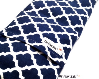 FLAX HEATING PAD - Microwave Hot Pack - Heat Therapy - Removable Washable Covers - Flax Seed Bag - Gift for Her, Fibromyalgia