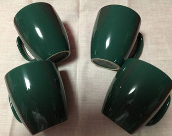 Corelle Dark Green Stoneware Classic Design Mugs/Cups