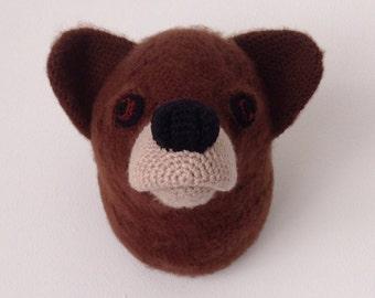 Bear Animal Head - Handmade Crochet