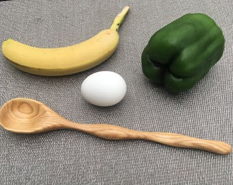 Handcrafted Hickory Wood Kitchen Utensil Spoon