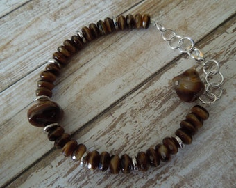 Ada Amber Czech Glass Bracelet