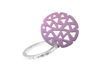 ring 925 silver + titanium