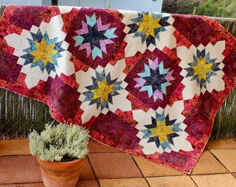 Quilt pattern - Fireworks for Joanna - size: 54 in. x 78 in.