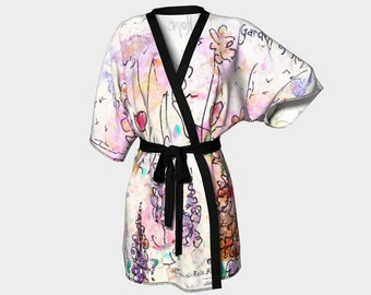 Kimono Robe Bridesmaid Robes Japanese Kimono Chiffon Robe Beach Cover Up Floral Robe Wedding Robes Bridesmaid Gift For Her Colorful Robes