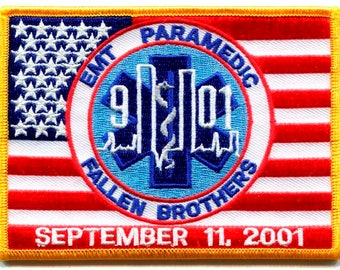 91101 EMS EMT Paramedic Fallen Brothers Patch (4x3)