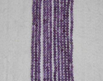 Amethyst, Amethyst Bead, 3 mm, Round Bead, Faceted Bead, Semi Precious Bead, Natural Stone, Gemstone Bead, Full Strand, AdrianasBeads