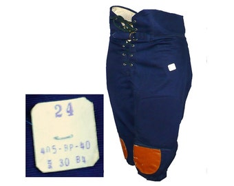 Vintage 1950's Red Cotton Canvas Football Pants Lace Up Removable Pads W 30 Sports Athletics Uniforms B4rrOPP