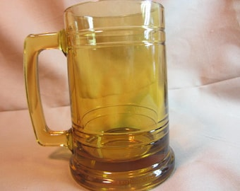 Retro Amber Glass Mug/Drinking Stein, Colored Glass Large Cup, Barware Beer Mug, Beer Stein, Amber Glass Barware, Glass Beer Mug, Drinkware
