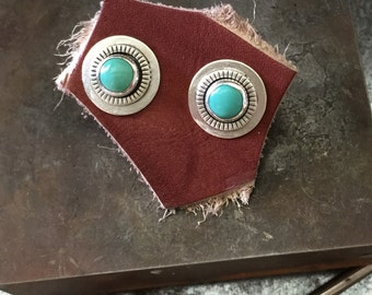 Rustica a Turquoise silver stud earring