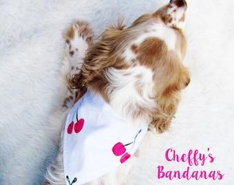 Cherry Bomb Dog Collar Bandana