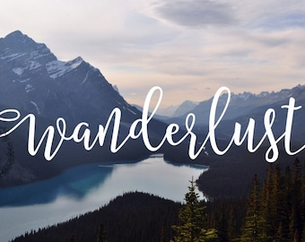 Wanderlust Decal - Adventure - Wander - Explore Decal - Mountains Decal - Let's Get Lost - Explore Together - Car Decal - Adventure Decal