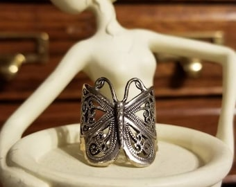 Sterling Silver Butterfly Knuckle Ring