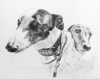 Custom Pet Portrait Graphite Pencil 11x14 hand drawn