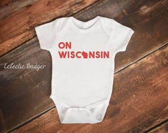 Wisconsin baby clothes, Wisconsin badgers baby, Wisconsin badgers Baby badger Newborn Wisconsin outfit Wisconsin baby gift Wisconsin baby