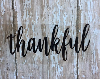 Thankful Iron on Decal/ Glitter or Non-Glitter Thankful Iron on Decal/ DIY Thankful Shirt/ DIY Thankful T-shirt/ DIY Thankful Top