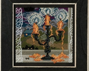 Mill Hill Buttons & Beads Autumn Series, Midnight Glow MH14-1826, Halloween Counted Cross Stitch Kit