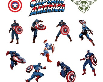 Captain America Svg/Eps/Png/Jpg/Cliparts,Printable, Silhouette and Cricut File !!!