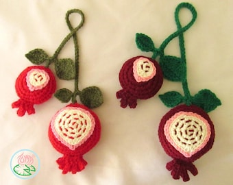 Crochet Pomegranates (Digital Download)