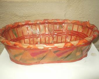 rustic wicker basket