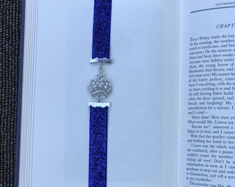 Rhinestone crown bookmark