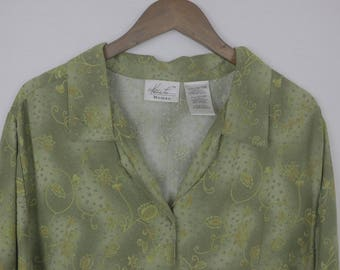Green and Yellow Kathie Lee Shirt