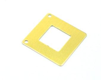 50 Pieces Raw Brass  20x20 mm Geomtric Brass Findings