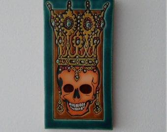 Crowned Byzantine Skull Tile
