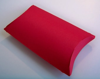 10 mini treat sized red pillow boxes