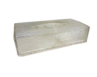 Vintage Celebrity Inc. Patterned Starburst Lucite Plastic Kleenex Box