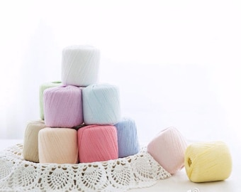 31 colors lace Cotton Yarns / Cotton Yarns / Pure Cotton Yarns/ 100% Cotton Yarns / Cotton Baby Yarns / Lace Yarns