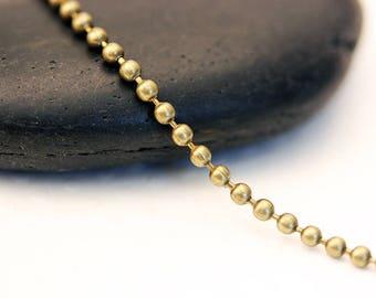 5 m chain mesh ball BRONZE 2.3 mm
