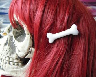 Barrette clip white ♥♥♥♥ bone ♥♥♥♥