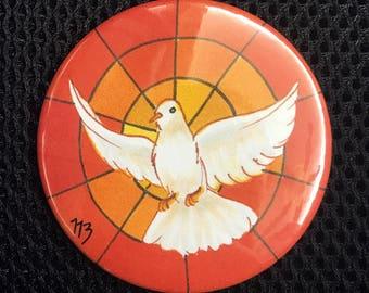 White Dove Pin