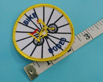 Vintage Bike Rodeo Patch Applique Sew On - Bicycle Pedal Power Jacket Vest Decor Accessory Novelty